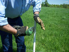 Drilling a PasturePro post